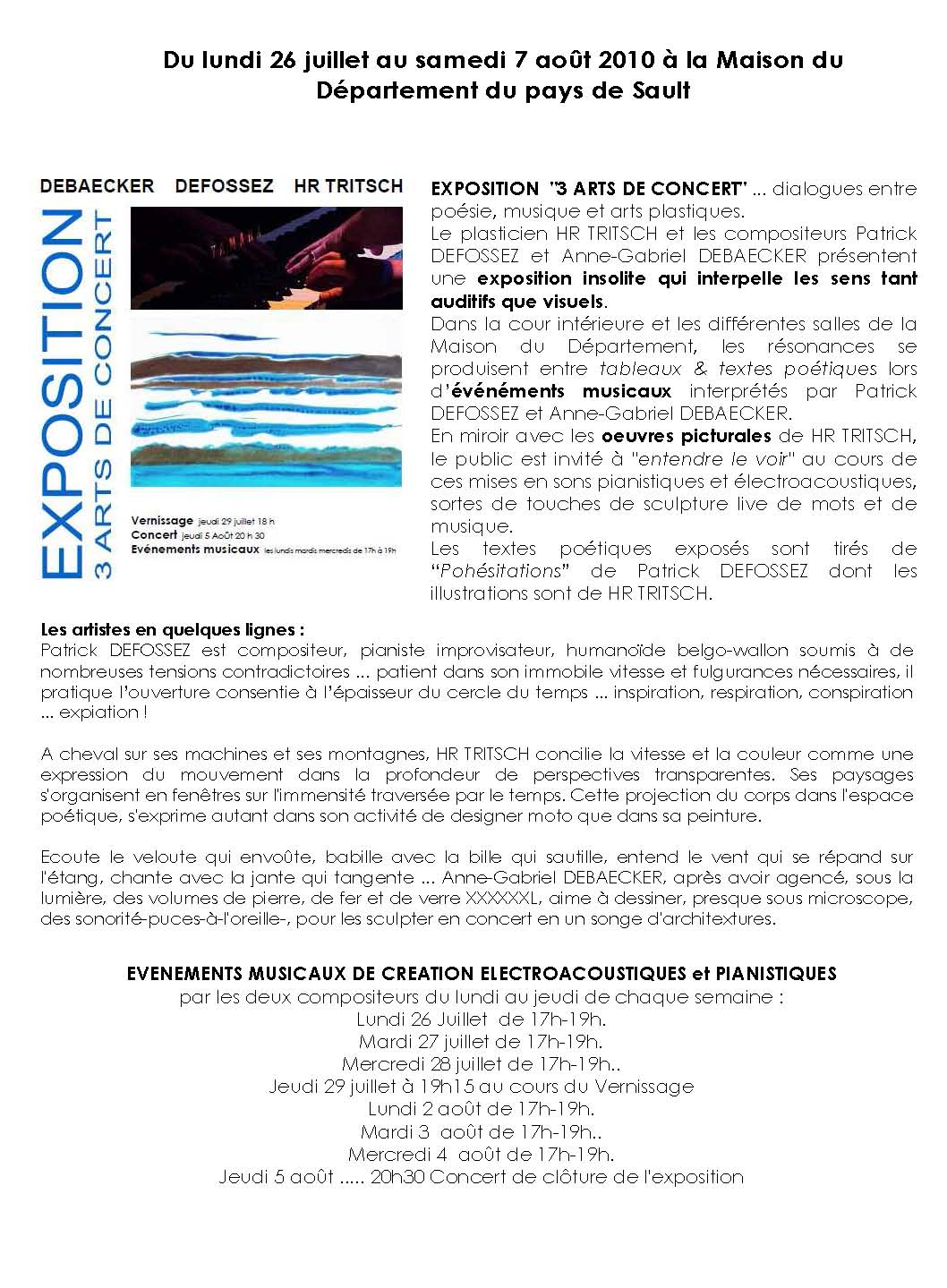 Programme exposition